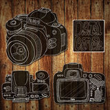 Digital camera drawing sketch Stock Photo