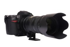 Digital Camera DSLR (Big Glass) Royalty Free Stock Photo