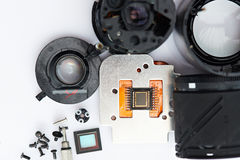 Digital camera electronic parts Royalty Free Stock Images