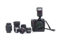 Digital camera and equipment Royalty Free Stock Photos