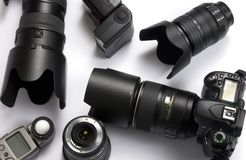 Digital Camera equipment Stock Photography