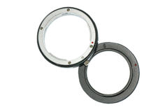 Digital camera extension ring Stock Photo