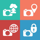 Digital camera icon set Stock Photos