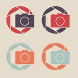 Digital camera icon. Shutter icon sign logo. Royalty Free Stock Photo