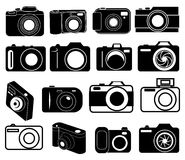 Digital camera icons set Royalty Free Stock Image