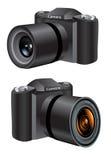 Digital Camera. An illustration of a digital camera Stock Photo