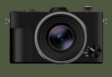Digital camera. Digital camera isolated on green background Stock Photo