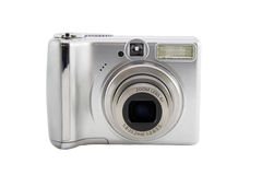 Digital camera isolated over white Royalty Free Stock Photos