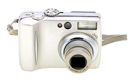 Digital camera isolated on white Royalty Free Stock Photography