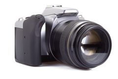 Digital camera isolated  on white Stock Photo