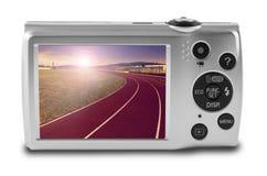Digital camera isolated on white background Royalty Free Stock Image