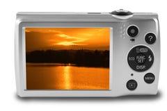 Digital camera isolated on white background Stock Images