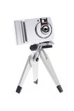 Digital camera for kids on tripod Royalty Free Stock Photo