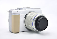 Digital Camera with  lens Royalty Free Stock Photography