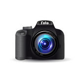 Digital camera lens. Illustration of Digital SLR camera Stock Images