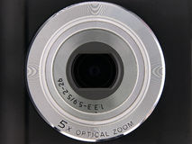 Digital Camera Lens 5X Optical Zoom Stock Photos