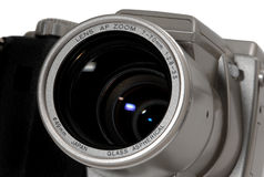 Digital camera lens detail closeup Royalty Free Stock Photos