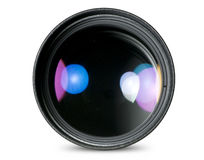 Digital camera lens isolated Stock Image