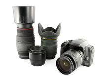 Digital camera and lens Stock Image