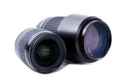 Digital camera lenses. stock images