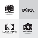 Digital camera logo design. Four different digital camera logo design vector illustration
