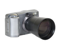 Digital camera with long lens Royalty Free Stock Photography