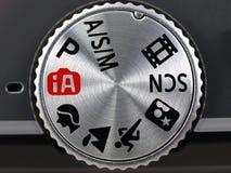 Digital Camera Mode Dial close up Stock Images