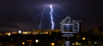 Digital camera the night view. Royalty Free Stock Images
