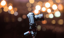 Digital camera the night view of city. Royalty Free Stock Photos