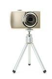 Digital Camera On Tripod Stock Photos
