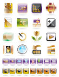 Digital Camera  Performance icons. Vector Icon Set Stock Photo