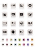 Digital Camera  Performance - Vector Icon Set. Digital Camera Performance - Vector Icon Set. menu of digital camera Royalty Free Stock Image