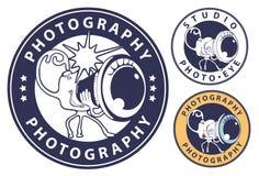 Digital camera - photographer. Vector illustration. In three variants Royalty Free Stock Images