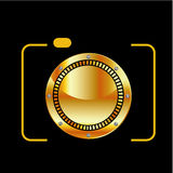 Digital Camera- photography logo Stock Photos