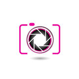 Digital Camera- photography logo. Pink Digital Camera- photography logo Royalty Free Stock Photo