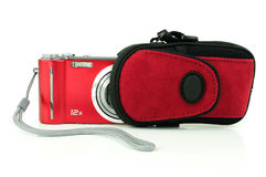Digital camera and pouch Stock Photography