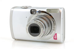 Digital camera with reflection Stock Photography