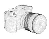 Digital camera render Royalty Free Stock Photos