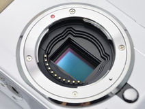 Digital Camera Sensor. New concept digital camera sensor royalty free stock photography