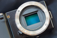 Digital camera sensor/APS-C CMOS sensor. Stock Photography