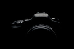 Digital camera silhouette Royalty Free Stock Photos