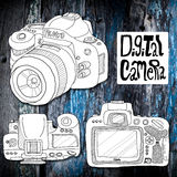 Digital camera sketch drawing Stock Photo