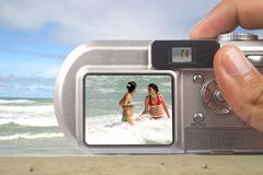 Digital camera taking picture Royalty Free Stock Image