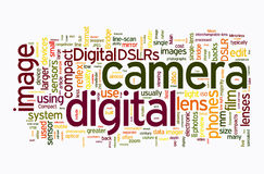 Digital camera text clouds Stock Photos