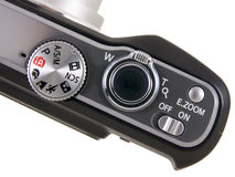 Digital Camera top controls close up Royalty Free Stock Photography