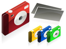 Digital camera vector Stock Photography