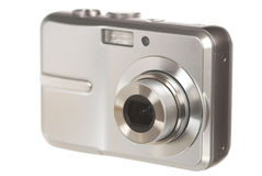 Digital camera on white Royalty Free Stock Images