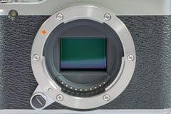 Digital camera on white background Stock Photography
