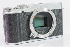 Digital camera on white background Stock Photo