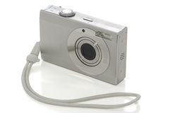 Digital camera on white with clipping path Royalty Free Stock Image